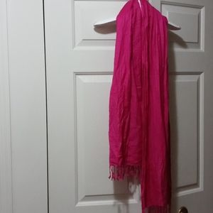 Ashley-cooper viscose pink scarf fringes
